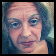 old lady makeup. only 18years old