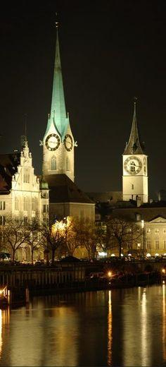 clock tower -Zurich, Switzerland