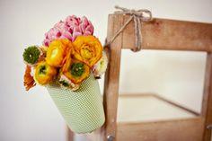 DIY: Vasijas para decoración de una boda