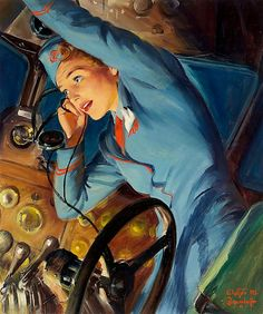 Mayday Mayday, art by Walter Baumhofer