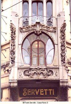 Torino Casa Florio 1907 Prog.  Pietro Fenoglio (Torino 1865 - Corio 1927)