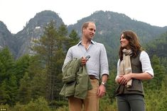Back to the start: William and Kate show their delight after finishing the stunning trek to the Tiger's Nest monastery
