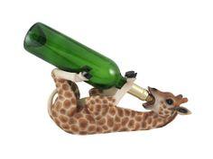 """Tall Drink Safari Giraffe Wine Holder Cute Guzzler Bar Kitchen Home Decor 13.5""""L."""