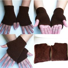 Crochet Pattern Fingerless Gloves PDF Crochet Pattern by OneStitch..I WILL have them in every color!