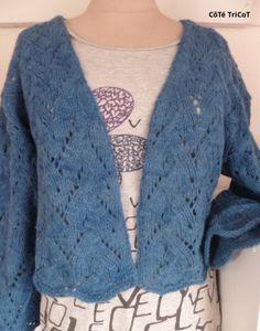 Tuto gratuit Frisson d'été : Boléro en pure laine vierge biologique de L'écheveau Vert Visible sur CôTé TriCoT, le blog