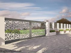 Nexus - Mild Steel Laser Cut Gate and Fence - Gate+Fence