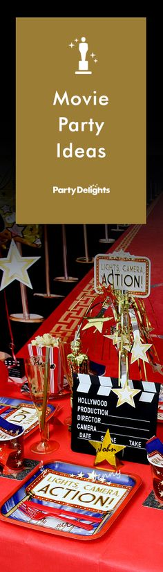Throw a glamorous Hollywood party or an Oscars party with our fabulous collection of movie party ideas! Read on for decorating ideas, party games, party food ideas and more.