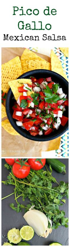 Add this popular fresh ingredient salsa to your Cinco de Mayo fiesta! Pico de Gallo is a simple condiment that enhances Mexican foods! The Foodie Affair #salsa #CincodeMayo #jalapeno #recipe