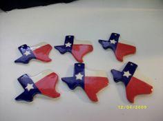 """Texas Christmas Ornaments 3.5"""" Set of two. $10.00, via Etsy."""