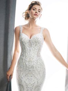 Kenneth Winston Style 1722 | gorgeously beaded wedding gown with scalloped low back | luxurious bridal gown