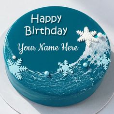 Mirror Glaze Chocolate Birthday Wishes Cake With Name