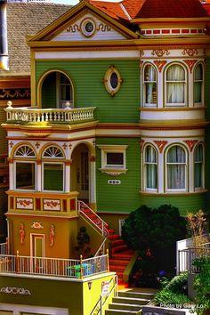 Victorian House San Francisco California USA