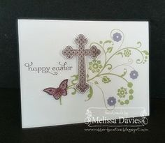 Sunday, March 16, 2014 RubberFUNatics: Flowering Easter Flowering Flourishes, Trefoil Cross, Delightful Dozen, Papillion Potpourri