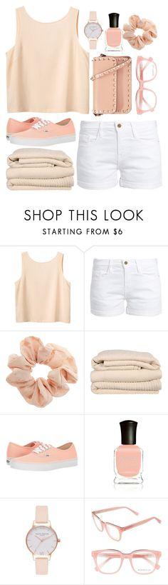 """Simple outfit♡"" by bekah-04 ❤ liked on Polyvore featuring Monki, Frame, Topshop, Brahms Mount, Vans, Deborah Lippmann, Olivia Burton, Derek Lam and Valentino"