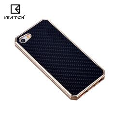 For Iphone 5 5s SE,Premium Metal Aluminum Carbon Fiber Element Cover Case For iPhone 5 5s SE Phone Case