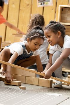 Children can use Hollow blocks to create their own role play structures.