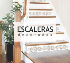 Dale un toque diferente a tus escalers con pintura, azulejos o vinilos #diy