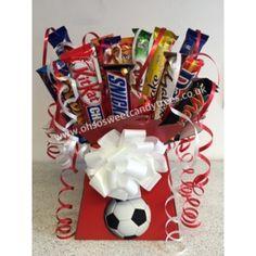 Chocolate Bar Bouquet in Football Team Colours