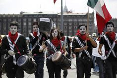Protesta en el zócalo de la Ciudad de México.
