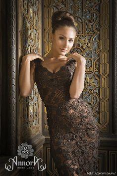 Великолепное платье *Tuam* от Annora ,цвет горький шоколад