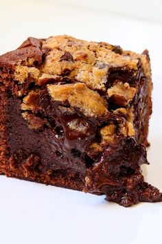 Recipe idea: How to make the perfect brookie Food Cakes, Gourmet Cakes, Baking Recipes, Cake Recipes, Chocolate Chip Brownies, Chocolate Cake Recipe Easy, Cheesecake Cake, English Food, Cookies Et Biscuits