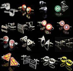 Men Cuff Link superman ironman spiderman starwars captain flash green lanten batman 007 //Price: $3.99 & FREE Shipping //     #jewellery