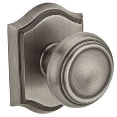 Baldwin HD.TRA.TAR Traditional Single Dummy Knob with Traditional Arch Rose (Polished chrome), Silver
