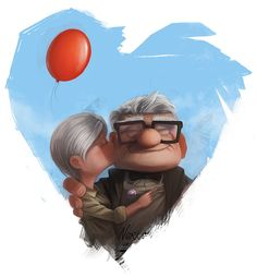 """The love story between Ellie and Carl was not just incredibly moving, it brought meaning and context to the whole movie. Carl had to fulfill a promise to Ellie of visiting Paradise Falls. When he opens their Adventure Book years after she's passed, he finds a small note she left that said, """"Thanks for the adventure - now go have a new one!"""""""
