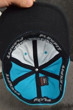 923df6513d2 Quiksilver teal black YOUTH flexfit hat baseball cap NO SIZE TAG 8