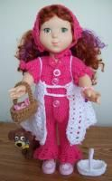 "Purty Pink Promises -18"" doll =lots of pics - Free Original Patterns - Crochetville"