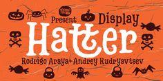 Sonderzeichen und Symbolfonts: Erstellt mit der Schrift Hatter Display von  Rodrigo Araya Salas und Anatoliy Kudryavtsev