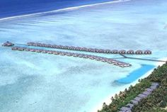The largest of all the private-island resorts in the Maldives, the Sun Island Resort and Spa has 68 water villas out of 426 total rooms. This is another that specializes in all-inclusive packages, and they've got 9 restaurants and bars to choose from, plus a very long list of water sports and other activities.
