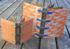 Books made from cardboard. Yeah, the purist bookbinders will cringe. These aren't exactly archival. They are just fun notebooks - not everyt...