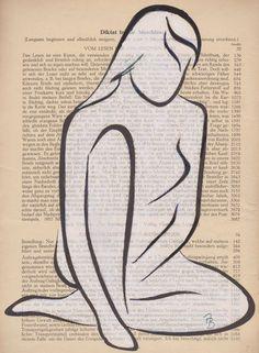 'Frauenakt - Malerei abstrakt' von Astrid Bartels bei artflakes.com als Poster oder Kunstdruck $16.63