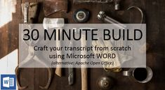 Build a Transcript using MS Word High School Transcript, Open Office, Thing 1, Show And Tell, Homeschool, Words, Building, Ms, Buildings