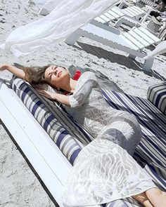 """""""If I lay here if I just lay here would you lie with me and just forget the world?""""   Currently longing for those warm sunny days at the beach (almost there - yay!). This dress is a personal design project I have and it's currently for sale on the website  link in bio   Happy Wednesday!"""