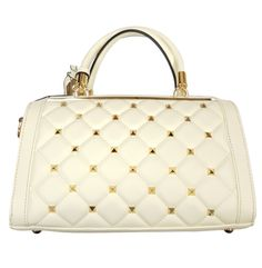 $79.99 - Brangio Italian Premium Leather Gold Studded Handbag