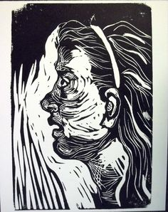 "Dana Ellyn: Awe 6""x9"" linoleum block print (1 of 10)"