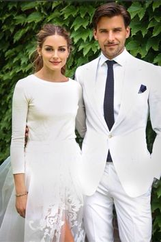 Gorgeous White Wedding Suit Low Key Dress Relaxed Simple
