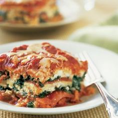 Spinach and Roasted Red Pepper #Lasagna