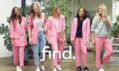 Dove comprare T-Shirt online: la linea di moda find. di Amazon Amazon, Coat, Jackets, Fashion, Down Jackets, Moda, Amazons, Sewing Coat, Riding Habit
