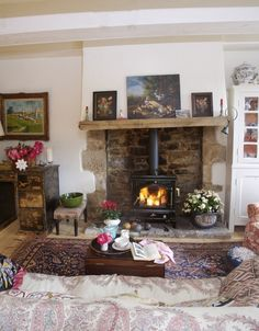 Country Cottage Living Room Decor Pic Of 456 Best Rooms Images In 2019 Found On Www Lonny Com Via Tumblr Inglenook Fireplace Mantle Stone