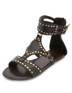 Studded Ankle Cuff Gladiator Sandals: Charlotte Russe