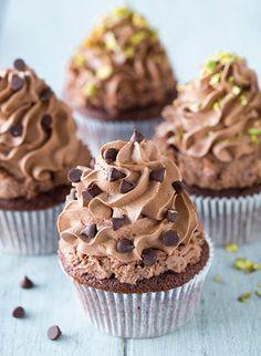 Chocolate Cannoli Cupcakes