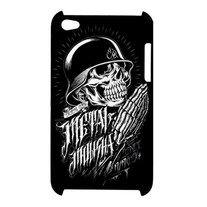 New Metal Mulisha Skull Tattoo Apple iPod Touch 4G Hardshell Case    This custom hardshell case is made of rugged, durable material to withstand everyday use, protecting your device from scratches and damage. It is simply the perfect gift for anyone who has a cell phone, including you!   Made from durable plastic  The case covers the back and corners of your phone  Image printed over the edge and around the sides of the case  Lightweight