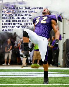 Definitely agree with Ray Rice. Ray Lewis - you will be deeply missed by every NFL fan. Truly one of the greats.