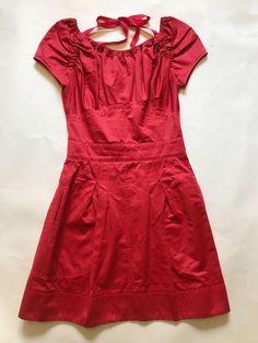 ~ NINA RICCI RED CAP SLEEVE DRESS (INSANELY PRETTY!) 36 #NinaRicci #ALineDress