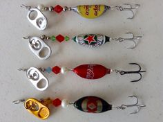 Fishing Lures spinner bottle beer cap #Fishing señuelo pesca