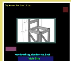 Diy Wooden Bar Stool Plans 215935 - Woodworking Plans and Projects!