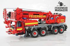Coole Bauanleitung für einen Feuerwehr-Kran aus Lego. Feuerwehrautos zum Selberbauen!
